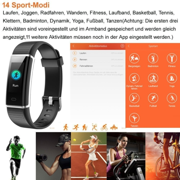 Willful Fitness Armband 14 modi