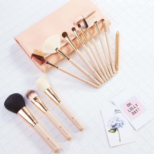 Amoore Make Up Pinsel Set Kosmetikpinsel 12