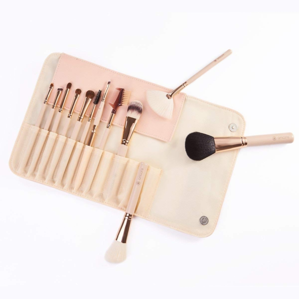 Amoore Make Up Pinsel Set Kosmetikpinsel 12 Stück